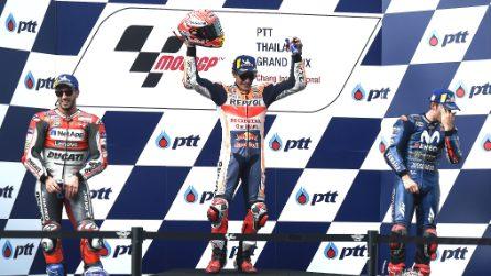 MotoGP, in Thailandia vince Marquez. Dovi battuto all'ultima curva