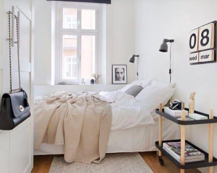 11 modi per far sembrare una piccola camera da letto più grande