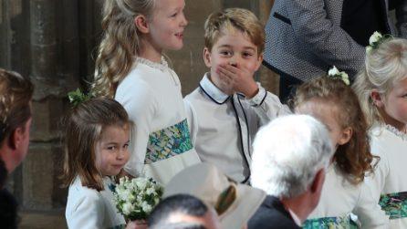 Charlotte e George, look coordinati al matrimonio di Eugenie di York
