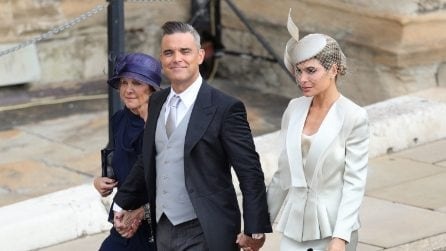 Le foto di Robbie Williams e Ayda Field al matrimonio di Eugenie di York