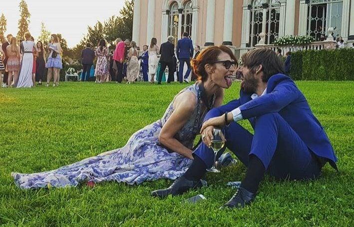 La coppia alle nozze di Daniele Bossari e Filippa Lagerback