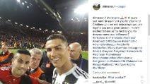 Il selfie scattato da CR7: messaggio speciale per il portoghese