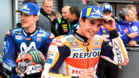 MotoGP, Marquez in pole, terza fila per Rossi, Petrucci e Dovizioso