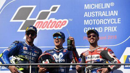 MotoGP, in Australia Vinales rompe il digiuno Yamaha. Iannone e Dovi sul podio