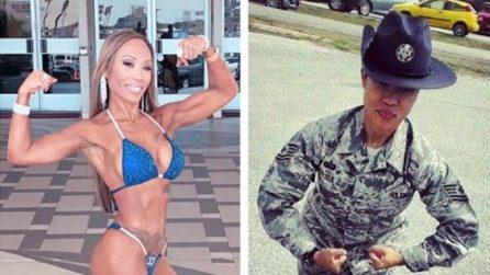 Da militare a body builder: il corpo scultoreo della sexy soldatessa