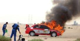 Incidenti e auto in fiamme al Kuwait International Rally 2018