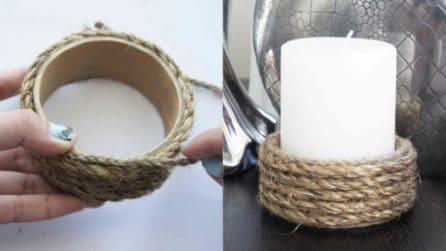 Come realizzare un porta candele a meno di 1 euro: l'idea originale