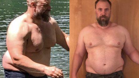 È stanco del suo aspetto e inizia a dimagrire: l'incredibile trasformazione in 150 giorni