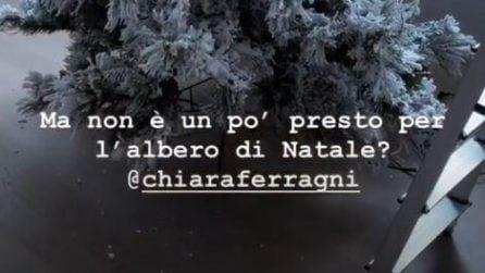 La casa di Chiara Ferragni e Fedez addobbata per Natale