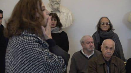 La camera ardente allestita in Campidoglio per Bernardo Bertolucci