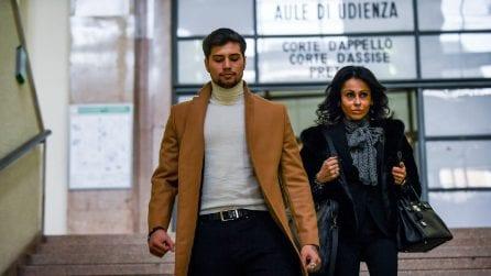 Milano, Niccolò Bettarini in tribunale per il processo ai suoi aggressori