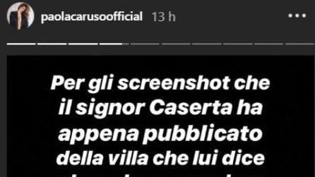 Paola Caruso risponde alle accuse dell'ex Francesco Caserta