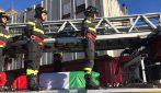 Rieti, esplosione in via Salaria: le immagini del corteo funebre di Stefano Colasanti
