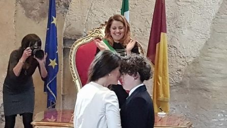 Le foto del matrimonio di Diana Winter e Carolina celebrato da Noemi