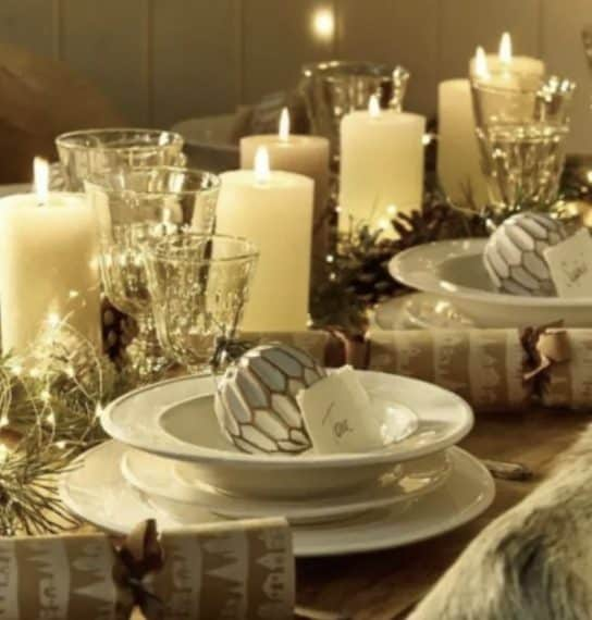 Credit: http://blog.styleestate.com/christmas-decorating/2014/6/28/50-stunning-christmas-tablescapes.html