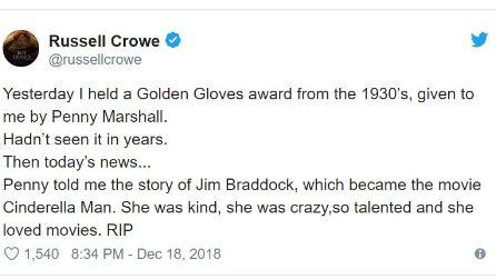Le reazioni di Hollywood alla morte di Penny Marshall