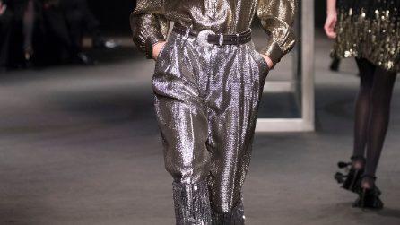 Look per Capodanno 2018: completi con pantaloni e scarpe glam