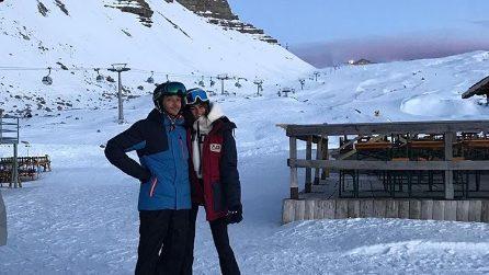 Valentino Rossi e Francesca Sofia Novello, Capodanno a Madonna di Campiglio