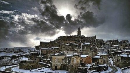 Neve sull'Italia, le immagini suggestive