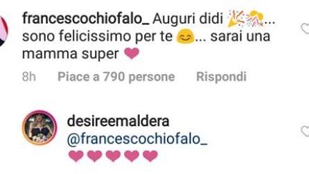 Francesco Chiofalo si congratula con Desirée Maldera dopo il parto