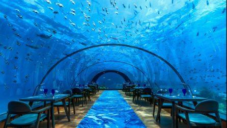 Menù e foto del '5.8 Undersea Restaurant', il ristorante subacqueo dove hanno cenato i Ferragnez