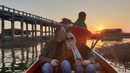 Antonella Clerici e Vittorio Garrone, la fuga d'amore in Birmania