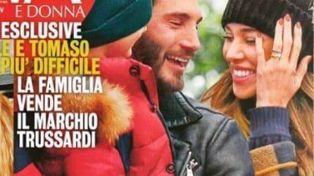 Belen Rodriguez con Stefano De Martino e la fede al dito