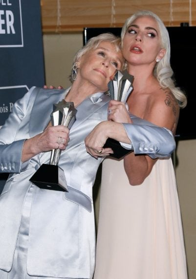 Glenn Close e Lady Gaga migliori attrici per The WIfe e A Star Is Born