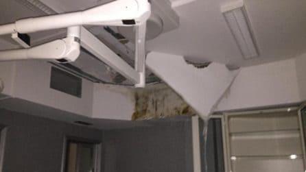 Ospedale San Giovanni Bosco senza pace: crolla controsoffitto in Ostetricia e Ginecologia
