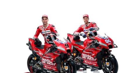 MotoGP, rosso totale per la Ducati GP19 di Dovizioso e Petrucci