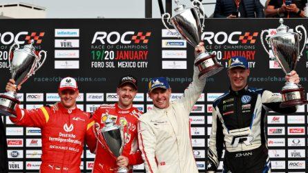Sebastian Vettel e Mick Schumacher alla Race of Champions 2019