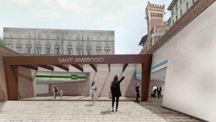 Milano, approvato il progetto della nuova stazione metro di Sant'Ambrogio con la linea M4