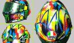 Valentino Rossi, nuovo casco speciale per i test MotoGP