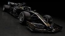 Haas strizza l'occhio al passato, ecco la nuova livrea nero e oro