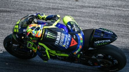 MotoGP, le foto di Rossi e Vinales nei test di Sepang