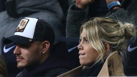 Le foto di Mauro Icardi e Wanda Nara a San Siro, fischiati dai tifosi