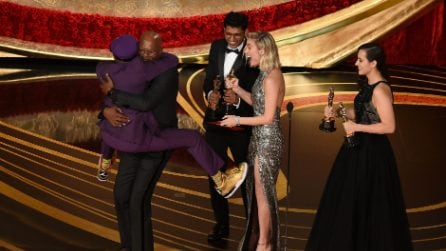 Spike Lee agli Oscar 2019, il folle abbraccio con Samuel L. Jackson
