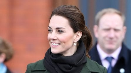 Il look anti-pioggia di Kate Middleton