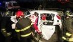 Incidente sulla provinciale della Val Tidone a Locate di Triulzi: feriti incastrati nelle lamiere