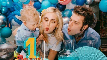 La prima festa di compleanno di Leone Lucia Ferragni