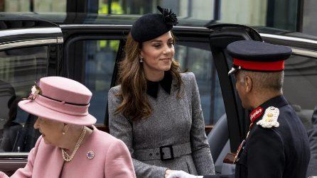 Kate Middleton per la prima volta a un evento con Elisabetta II