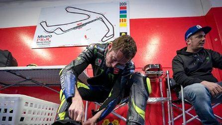 Valentino Rossi e i piloti della VR46 Academy a Misano