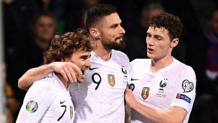 Euro 2020: Moldavia-Francia, lo show dei campioni del Mondo