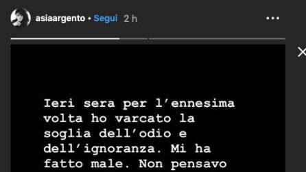 """Asia Argento rompe il silenzio dopo """"Non è La D'Urso Live"""""""