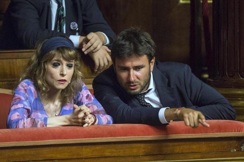 La deputata Tiziana Ciprini con Alessandro Di Battista