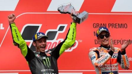 MotoGP, Marquez conquista l'Argentina ma Rossi ritrova il podio