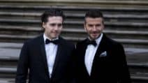 David e Brooklyn Beckham insieme sul red carpet