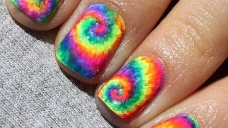 Tie dye manicure