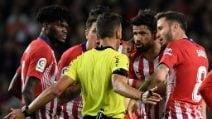 Diego Costa, che stangata: maxi squalifica per insulti all'arbitro
