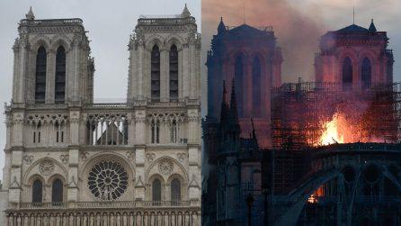 Incendio Notre Dame, le immagini della cattedrale prima e dopo